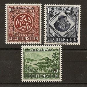Liechtenstein 1953 Vaduz Museum SG317-319 MNH Cat£130