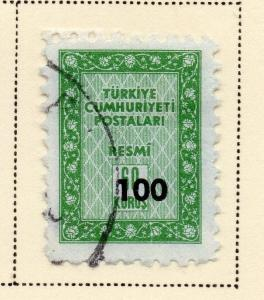 Turkey 1963 Early Issue Fine Used 100k. Surcharged 086053