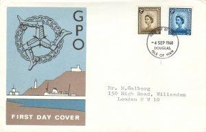 Great Britain Regionals Scott Isle of Man 5, 7 Typewritten Address.