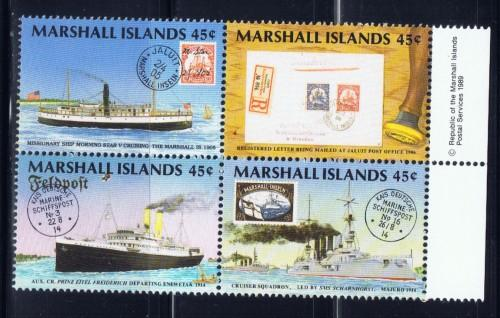Marshall Is 229a NH 1989 Shios block of 4