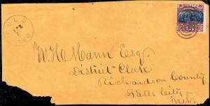 U.S. 119 Used F+VF ON COVER FRONT (103118)