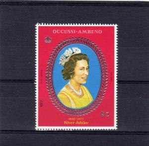Timor (Ocussi-Ambeno) 1977 Silver Jubilee Q.Elizabeth II Set (1) Perforated MNH