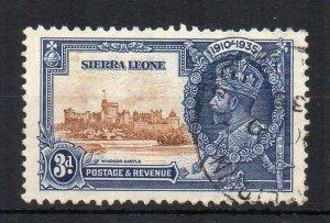 Sierra Leone 1935 3d Silver Jubilee lightning conductor variety FU CDS
