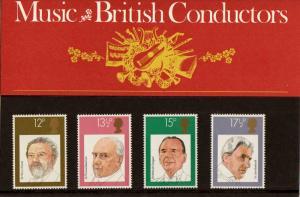 PRESENTATION PACK PP102 1980 - BRITISH CONDUCTORS (printed no.120)