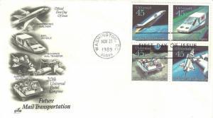 U.S. 1989  FUTURE MAIL SERVICE 4 Setents Scott #C125a on an ArtCraft FDC Cachet
