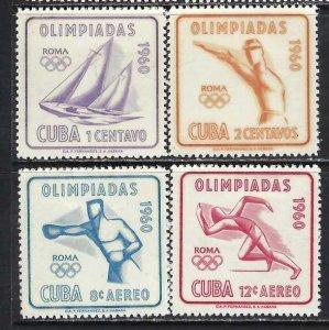 CUBA 645-46 C212-12 MOG OLYMPICS 278G