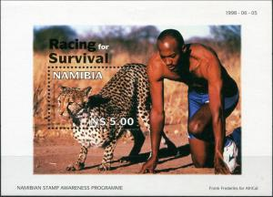 Namibia. 1998. Wildlife Conservation - Racing for Survival (MNH OG) S/S