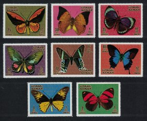 Ajman MNH MI747A-54A Butterflies Insects 1971
