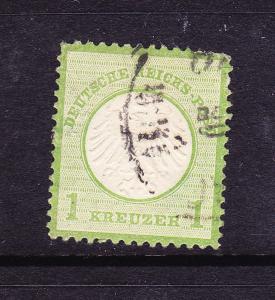 GERMANY  1872-74  1kr SMALL SHIELD FU Mi 7