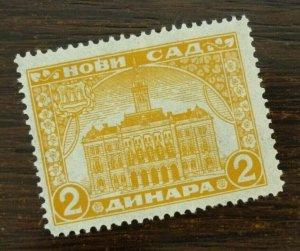 Yugoslavia Serbia NOVI SAD Local Revenue Stamp 2 Dinara  CX43
