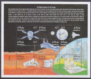 2000 Maldive Islands 3345-3353KL Future colonies on Mars 10,00 €