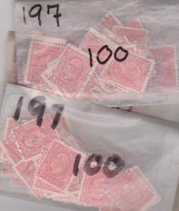 Canada #197 Used (1500) Some CDS. Unchecked for dies. FAvg. Cat. $375.00