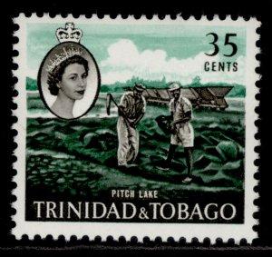 TRINIDAD & TOBAGO QEII SG293, 35c emerald & black, NH MINT.