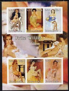 Eritrea 2003 Fantasy Art by Fritz Willis (Pin-ups) imperf...