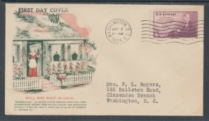 US Planty 737-1 FDC. 1934 3c Mother's Day, FIRST CACHET American War Mothers