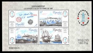 SPAIN Scott 2529 MNH** ESPAMER'87 souvenir sheet