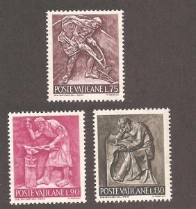 Vatican City 430-432 Mint VF NH