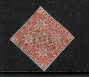 New Brunswick #1 Very Fine Used With Four Margins