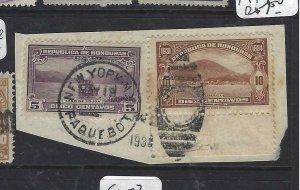 HONDURAS (P2606B) SC 300-1 PIECE NY PAQUEBOT CDS CANCEL #1