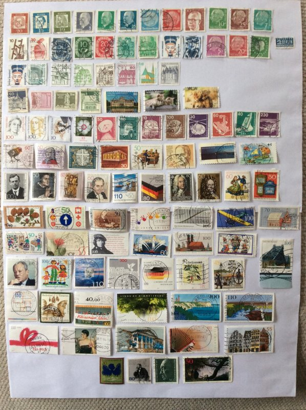 German 100+ stamps - Lot 10