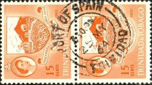 TRINIDAD & TOBAGO 1964 (May 25) PORT-OF-SPAIN/TRINIDAD DS on SG291 - Ref.832c