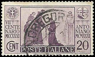 Italy - 258 - Used - SCV-1.25