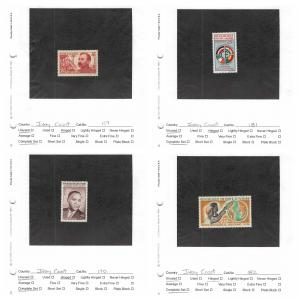 Lot of 98 Ivory Coast Mixed Condition Stamps #142436 X R
