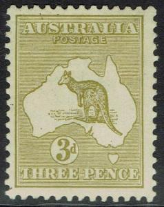 AUSTRALIA 1915 KANGAROO 3D DIE II 3RD WMK