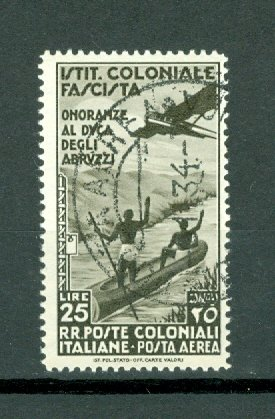 ITALIAN COLONIES SCARCE  AIR #C28..USED NO THINS..$240.00