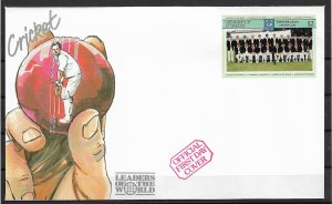 1985 St Vincent Grenadines 415a Yorkshire county Cricket Club FDC