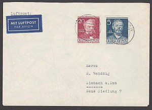 GERMANY Berlin : 1953 airmail cover - nice franking.........................B341