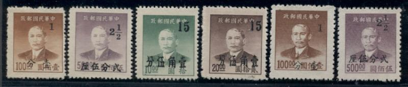 CHINA #991-6, Complete set, unused no gum as issued, VF, Scott $142.50