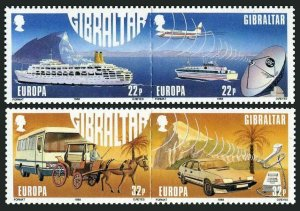 Gibraltar 524-527a pairs,MNH.Michel 544-547. EUROPE CEPT-1988,Transport:Ship,