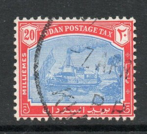 South Sudan 1948 KGVI Postage Due 20m Gunboat wmk multi SG, SG D15 used