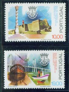 Portugal Scott 1525-6 MNH** 1981 Figueira da Foz set CV$2.15