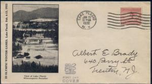 US #716, 2¢ Olympics FDC, Edgerly cachet, VF, Mellone $35.00