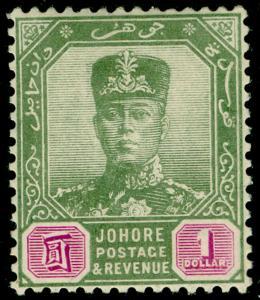 MALAYSIA - Johore SG87, $1 green & mauve, M MINT. Cat £110.