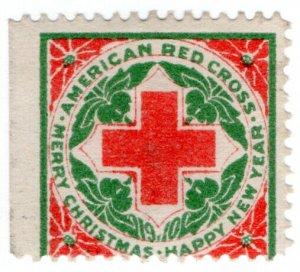 (I.B) US Cinderella : Red Cross Christmas Seal (1910)