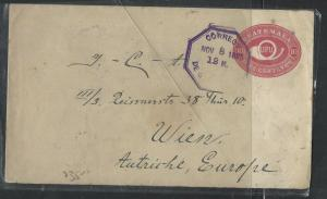 GUATEMALA  (PP1104B)   1895 10C UPU HORN PSC TO AUSTRIA