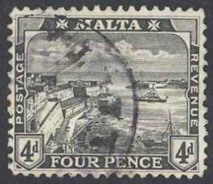 Malta Sc# 63 Used 1915 Valletta Harbor