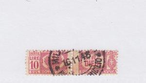 #Q59 pair nice cancel 10 lire Cat $75 ITALY