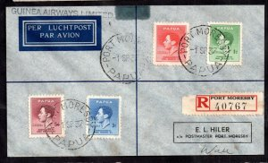 Papua 1937 Registered Airmail Postal History Cover on Guinea Airways WS15025
