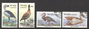South Africa Venda Sc# 161-164 Used 1987 Waterfowl