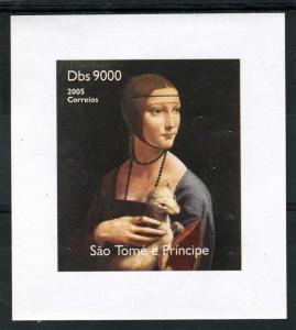 Sao Tome & Principe 2005 LEONARDO DA VINCI Paintings Deluxe s/s Mint (NH)