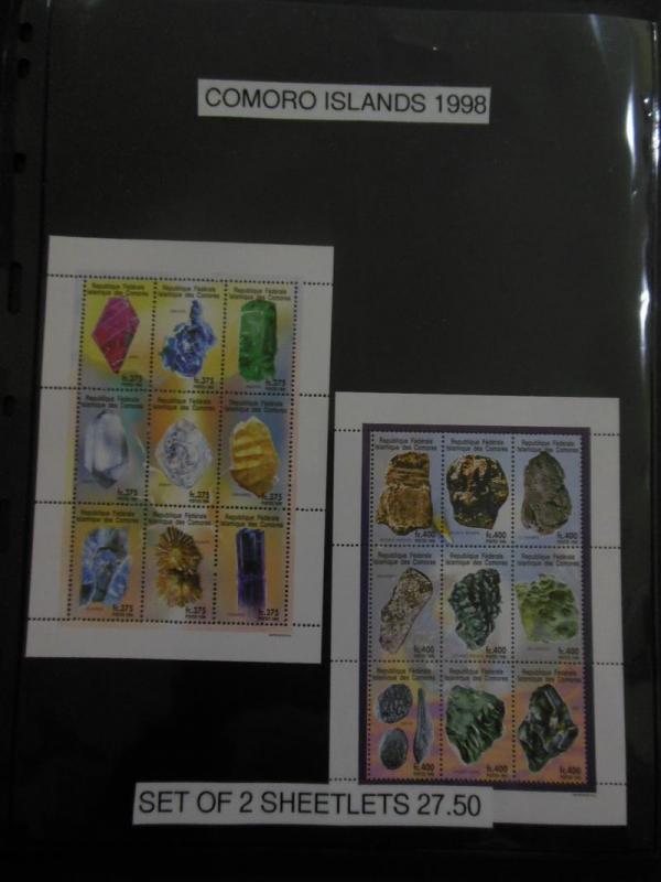 COMOROS ISLANDS : Beautiful grouping of all VF MNH S/S & Shlts. Scott Cat $174.