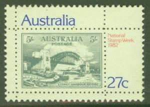 Australia Scott 846 MNH ** Sydney Bridge stamp on stamp 1982