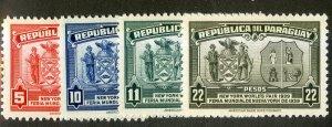 PARAGUAY 362-5 MNH SCV $5.20 BIN $2.75