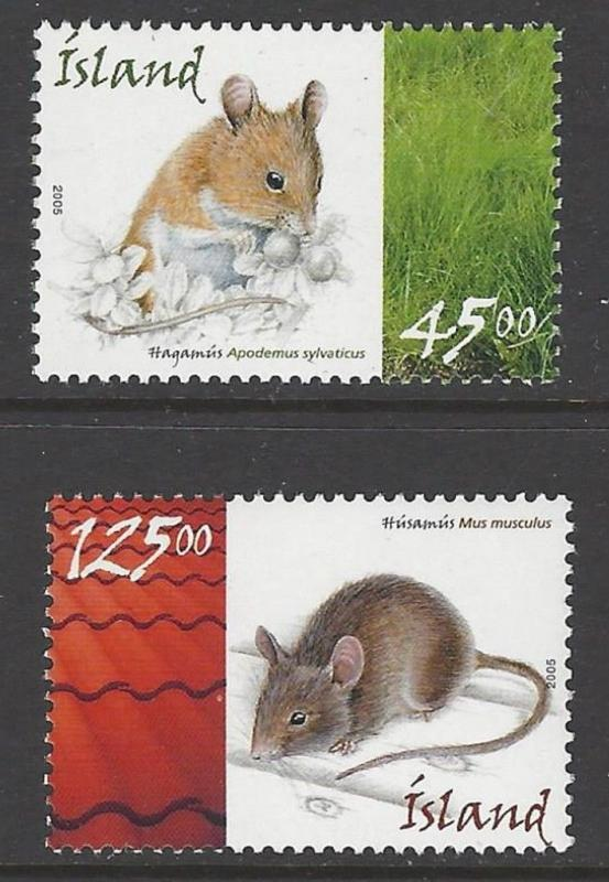 Iceland 2005 Mice VF MNH (1037-8)