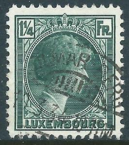Luxembourg, Sc #182, 1-1/4fr Used