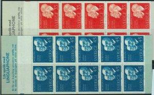91442 - SWEDEN - STAMPS: Booklet   Mi # 596/97 -  1967 Nobel Prizewinners 1967